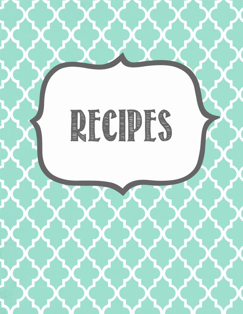 Free Recipe Binder Templates Fresh Melanie Gets Married Recipe Binder Printables