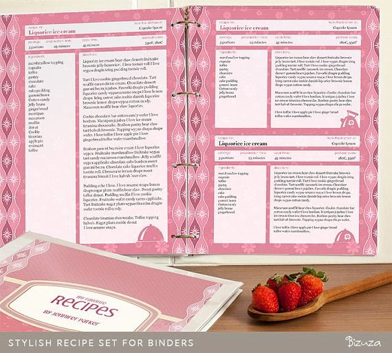 Free Recipe Binder Templates Lovely Recipe Binder Printable Pages Editable Pdf for Letter