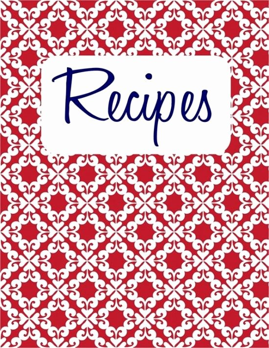 Free Recipe Binder Templates Lovely Recipe Cover Page Template