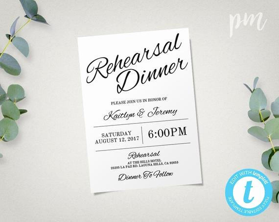 Free Rehearsal Dinner Template Awesome Rehearsal Dinner Invitation Template Instant Download