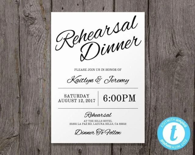Free Rehearsal Dinner Template Beautiful Printable Wedding Rehearsal Dinner Invitation Template