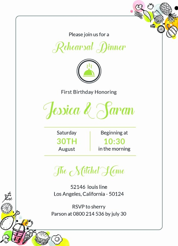 Free Rehearsal Dinner Template Best Of 47 Dinner Invitation Templates Psd Ai