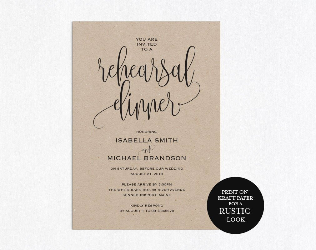 Free Rehearsal Dinner Template Best Of Rehearsal Dinner Invitation Template Rehearsal Printable