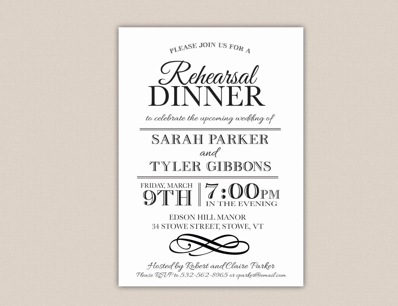 Free Rehearsal Dinner Template Elegant Rehearsal Dinner Invitation Template Free