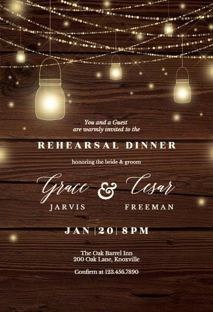 Free Rehearsal Dinner Template Elegant Rehearsal Dinner Invitation Templates Free