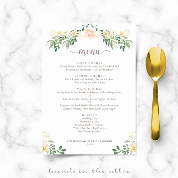 Free Rehearsal Dinner Template Inspirational Rustic Wedding Menu Rehearsal Dinner Menu Template Sit