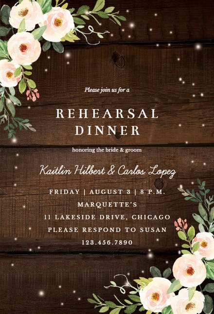 Free Rehearsal Dinner Template Lovely Rehearsal Dinner Invitation Templates Free