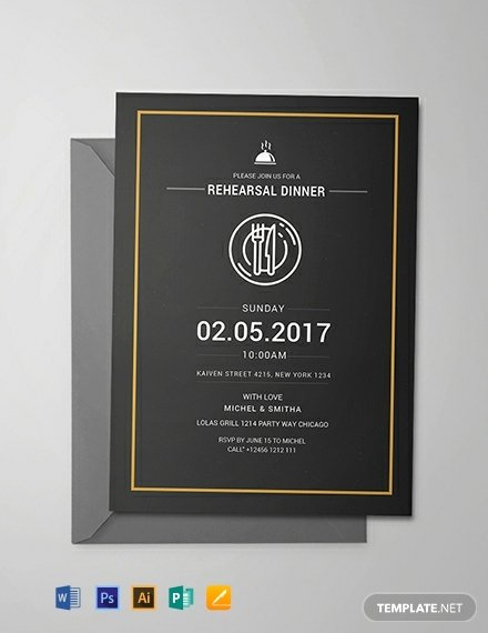 Free Rehearsal Dinner Template Luxury Free Rehearsal Dinner Party Invitation Template Download