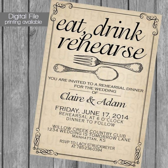 Free Rehearsal Dinner Template Luxury Printable Rehearsal Dinner Invitation Template Wedding
