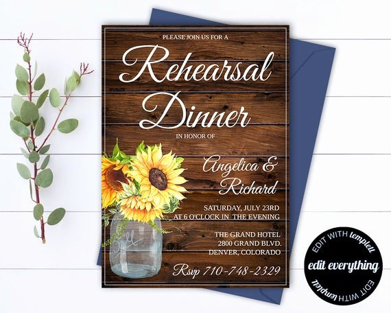 Free Rehearsal Dinner Template Luxury Rustic Wedding Rehearsal Dinner Invitation Template Wedding
