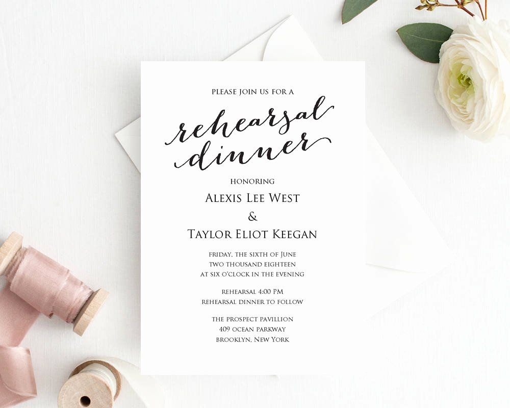Free Rehearsal Dinner Template Unique Rehearsal Dinner Invitation Template Diy Printing Custom