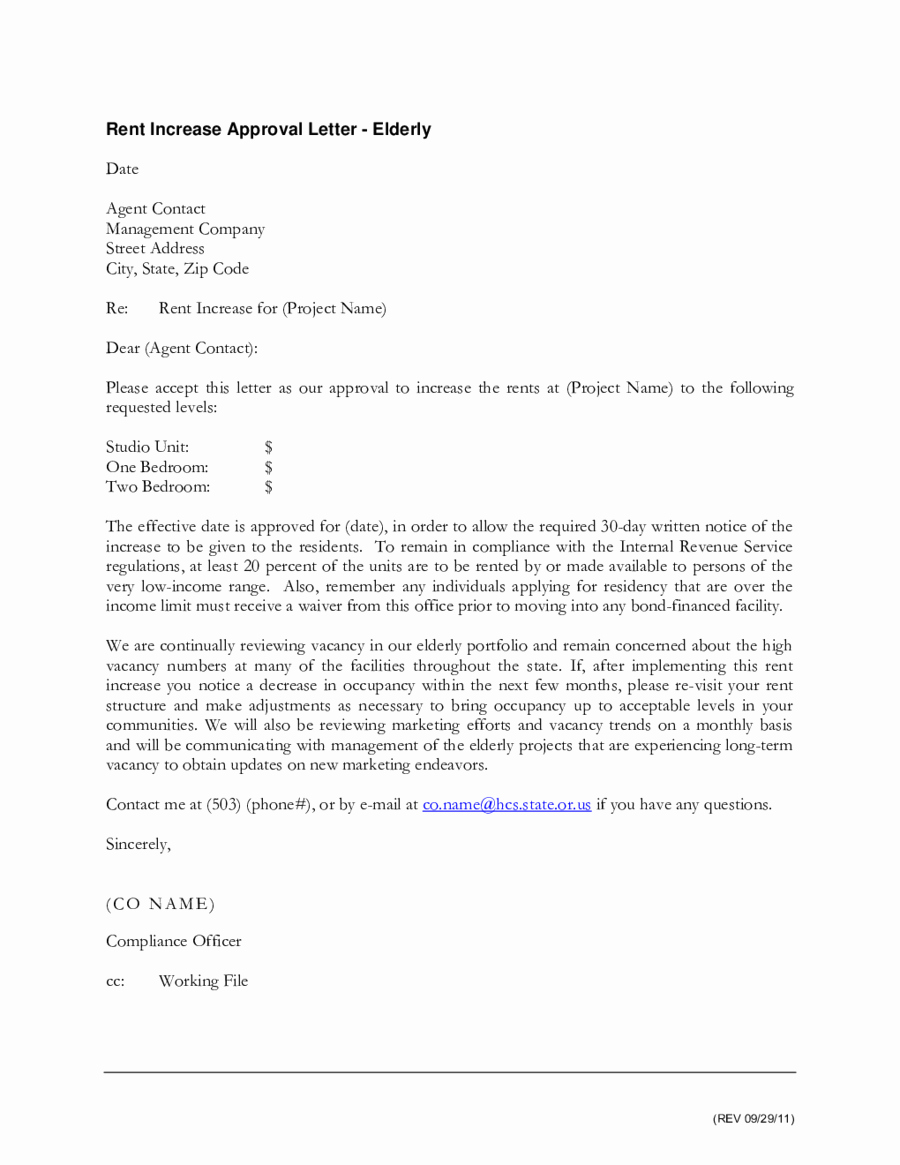 Free Rent Increase Letter Best Of 2019 Rent Increase Letter Fillable Printable Pdf