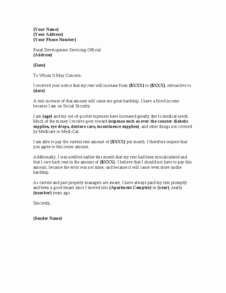 Free Rent Increase Letter Lovely Letter Rent Increase Free Printable Documents