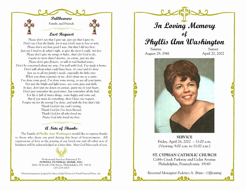 Free Sample Funeral Program Template Best Of Obituary Template forms Printable Programs Vlogger Faire