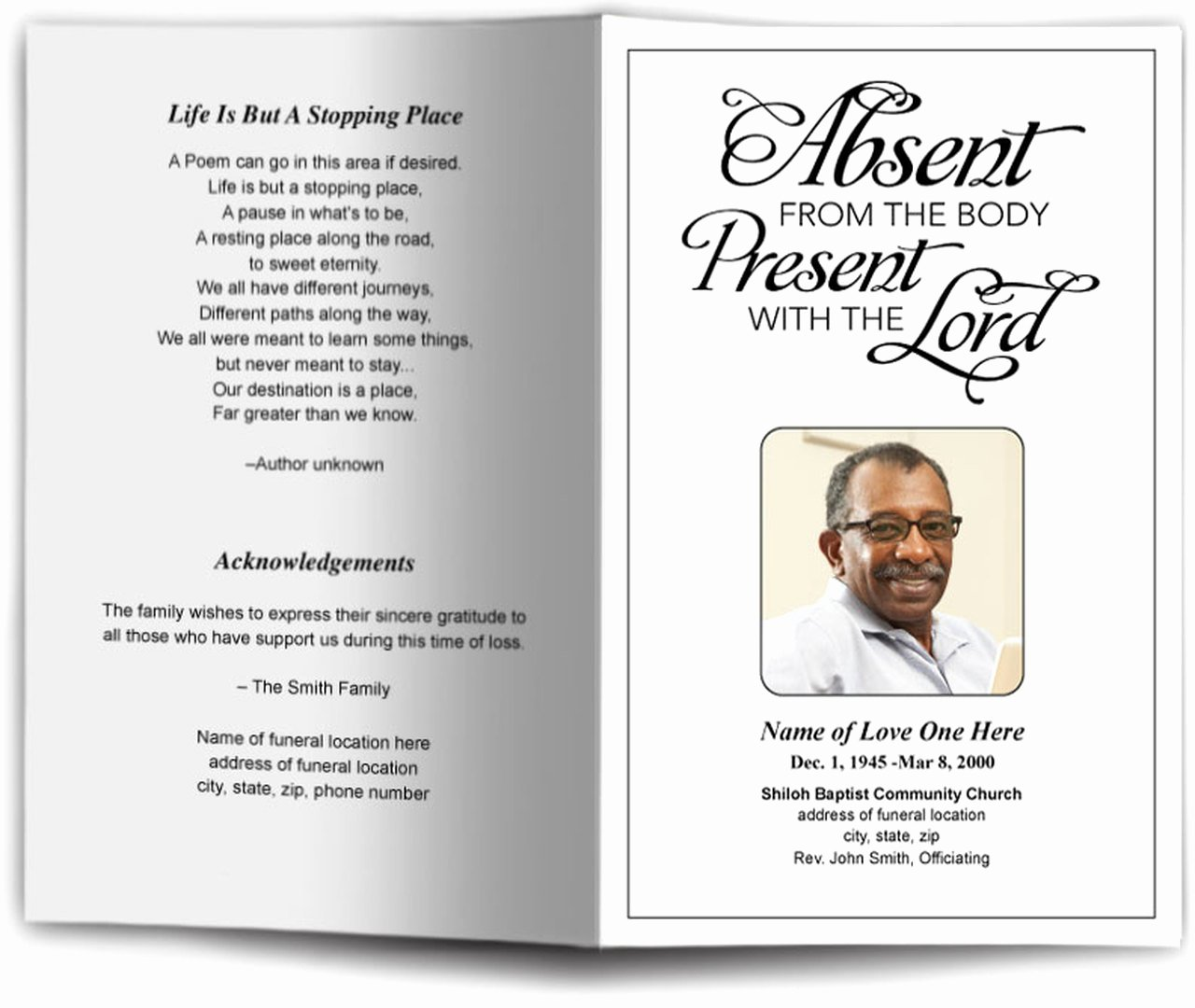 Free Sample Funeral Program Template Best Of Present Funeral Program Template