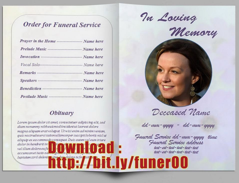Free Sample Funeral Program Template Inspirational Pin by Free Funeral Program Template On Free Memorial