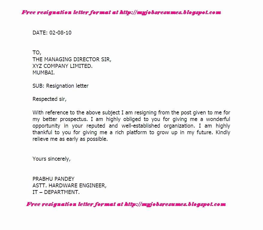 Free Sample Resignation Letter Elegant Fresh Jobs and Free Resume Samples for Jobs 12 05 13 19
