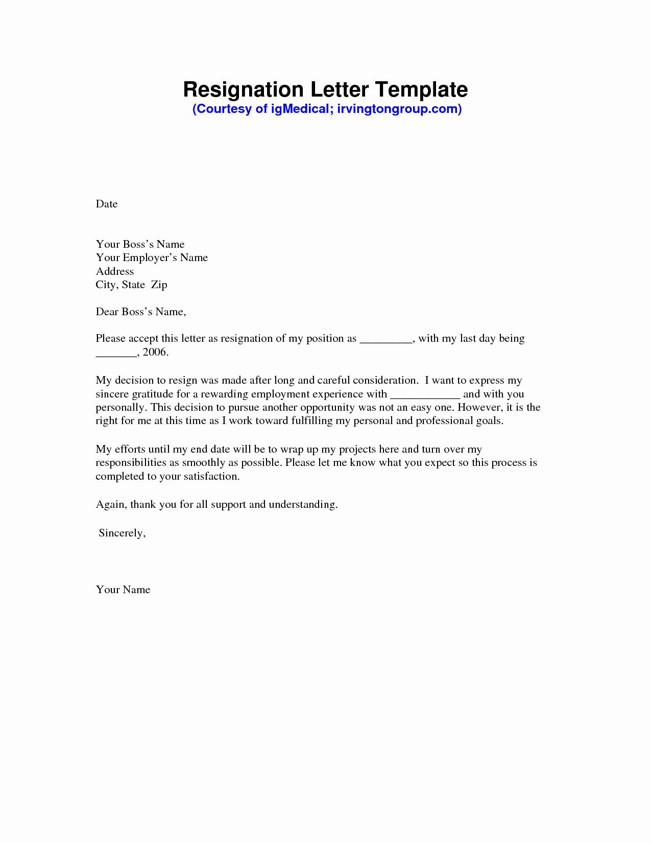 Free Sample Resignation Letter Elegant Resignation Letter Sample Pdf