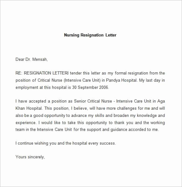 Free Sample Resignation Letter Inspirational 69 Resignation Letter Template Word Pdf Ipages