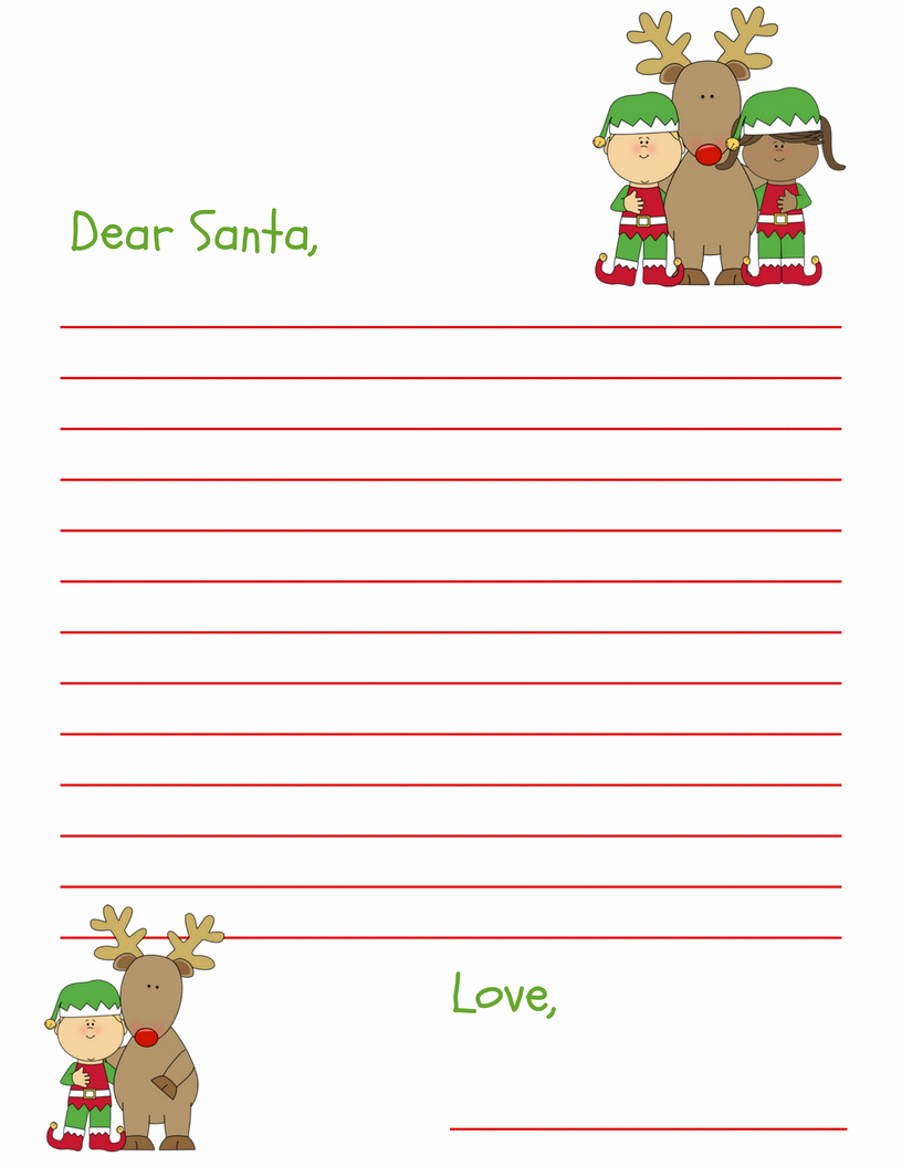 Free Santa Letter Template Beautiful Dear Santa Letter Free Printable for Kids and Grandkids