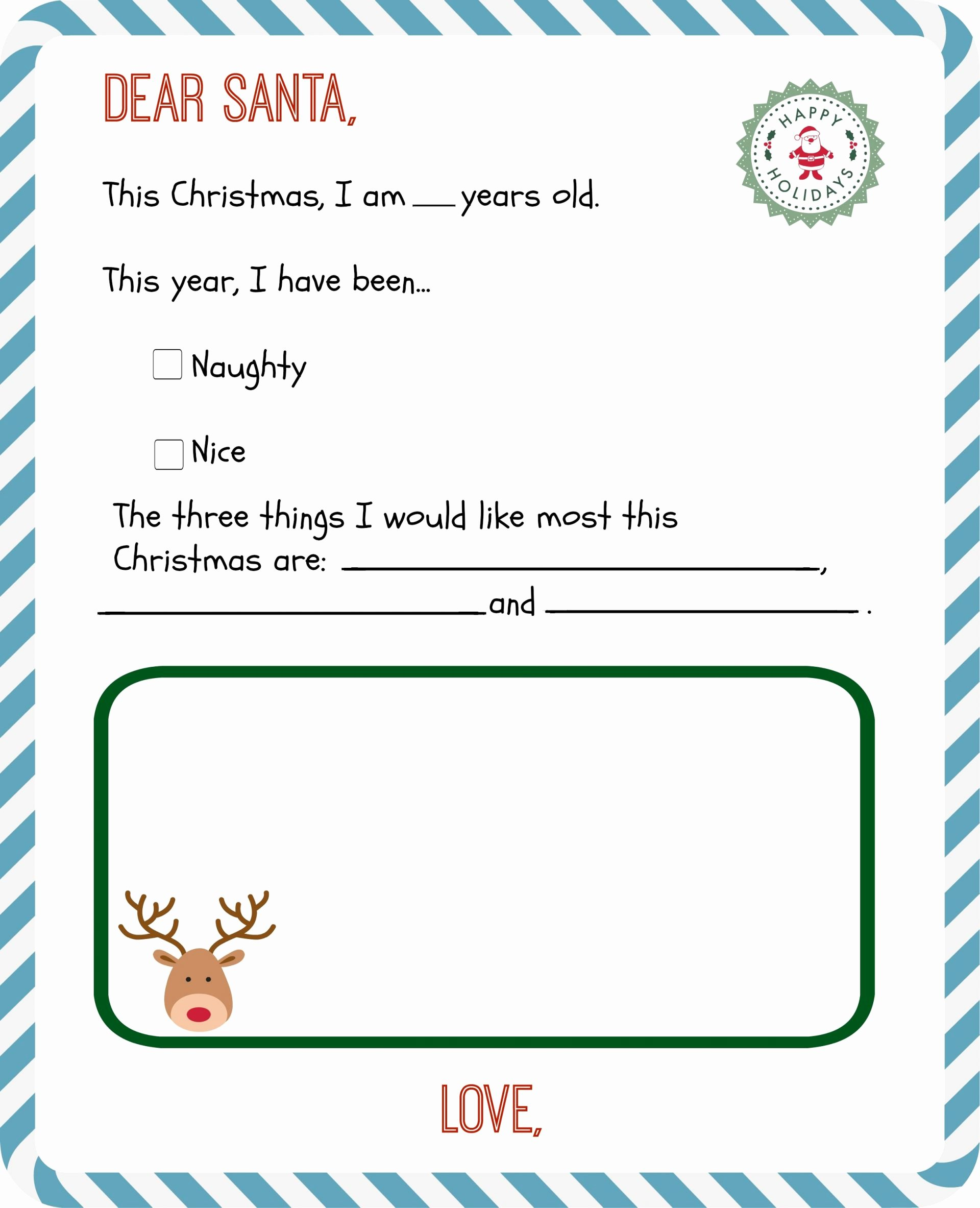 Free Santa Letter Template Best Of Free Printable Letter to Santa Templates and How to Get A