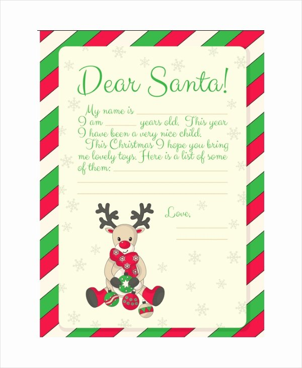 Free Santa Letter Template Best Of Santa Letter Template 9 Free Word Pdf Psd Documents