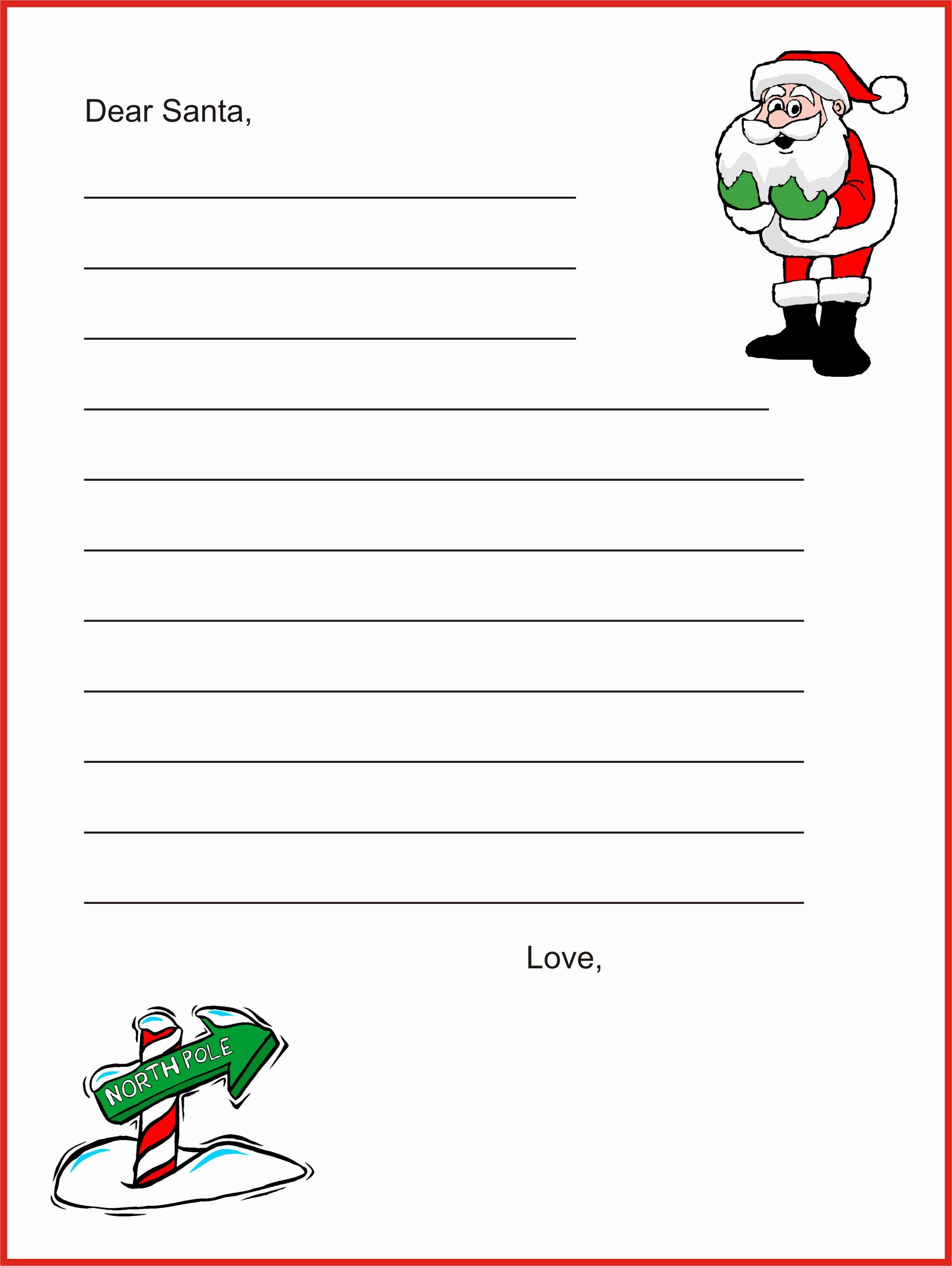 Free Santa Letter Template Elegant Dear Santa Letter Template Christmas Letter Tips