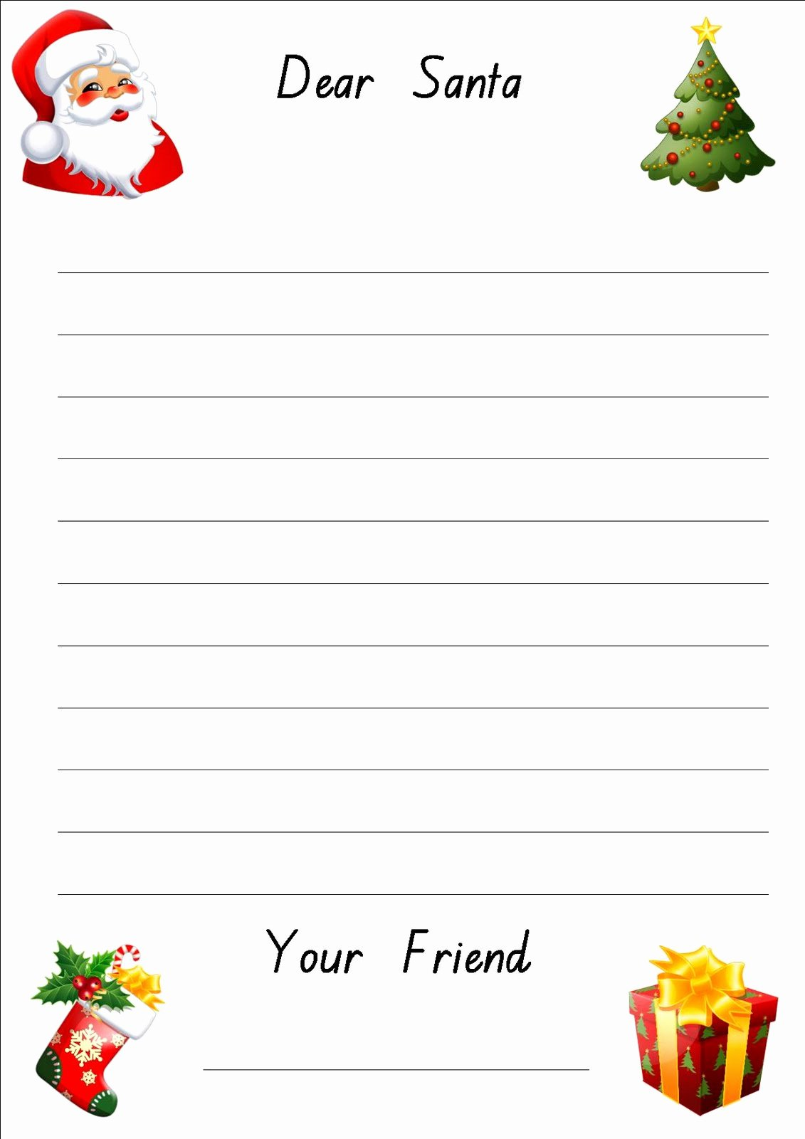Free Santa Letter Template Elegant Free Printable Letter to Santa Paper