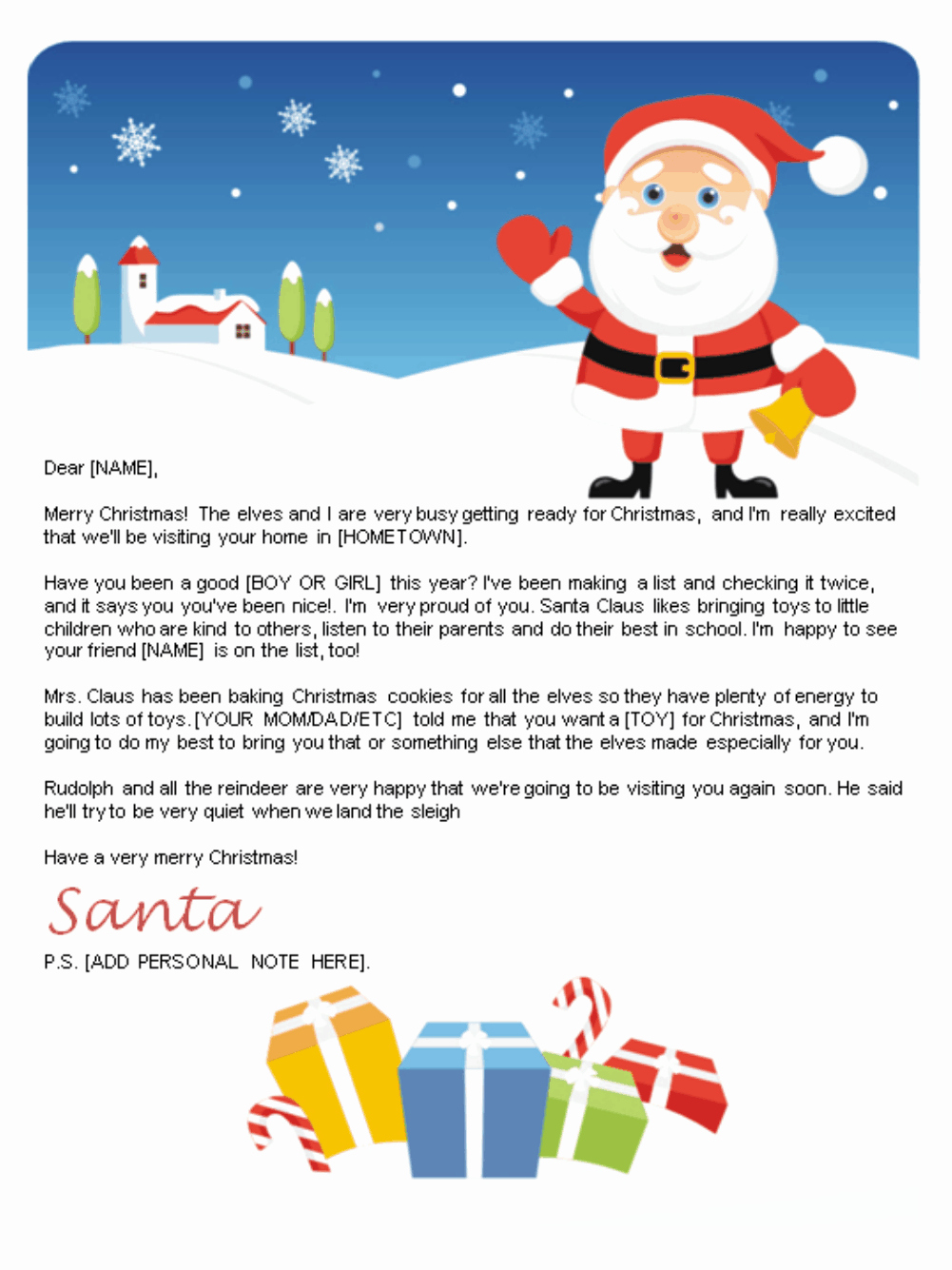 Free Santa Letter Template Luxury Free Letters From Santa