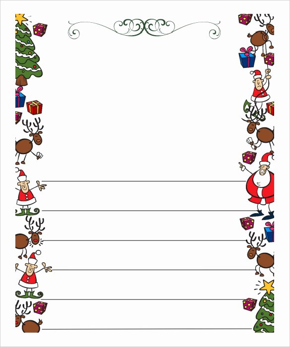 Free Santa Letter Template Unique 13 Christmas Letter Templates Word Apple Pages Google