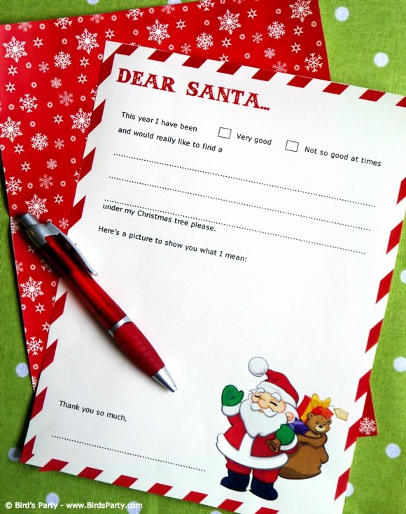 Free Santa Letter Template Unique Free Dear Santa Party Printable Letter Template Party