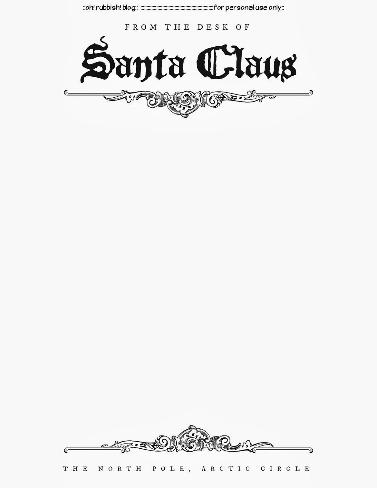 Free Santa Letter Template Unique Santa Letter Templates Christmas Printables 5