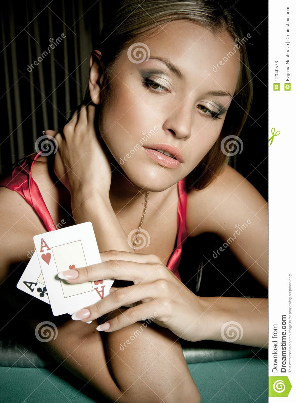 Free Sexy Women Photos Elegant Woman Playing Poker In Casino Stock Image Of Being