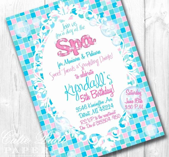 Free Spa Party Invitations Best Of Items Similar to Spa Party Invitations Printable Custom