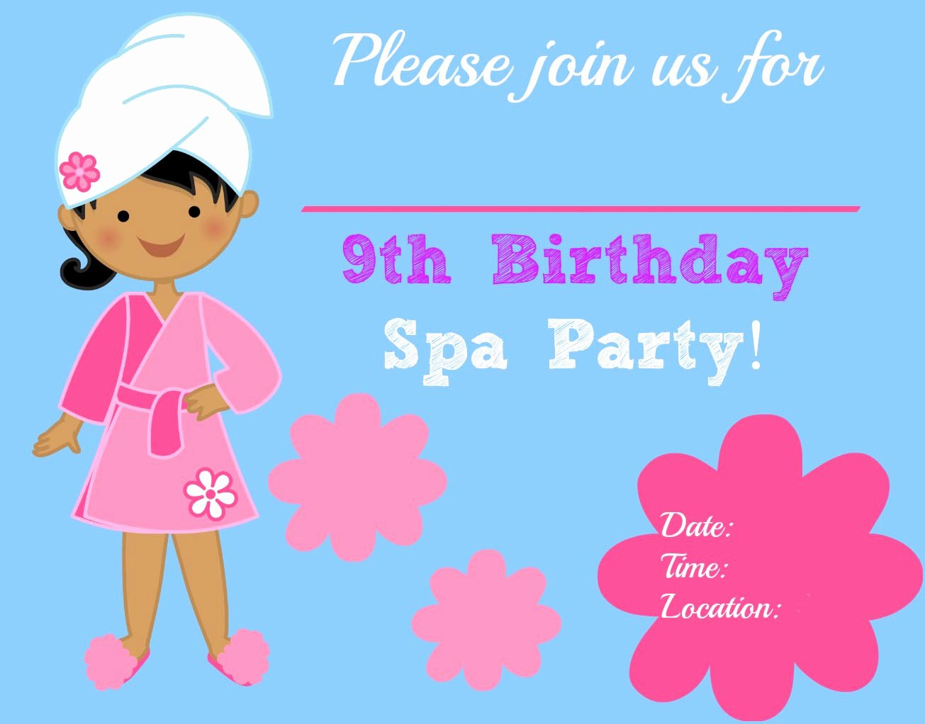 Free Spa Party Invitations Elegant Making Spa Party Invitations
