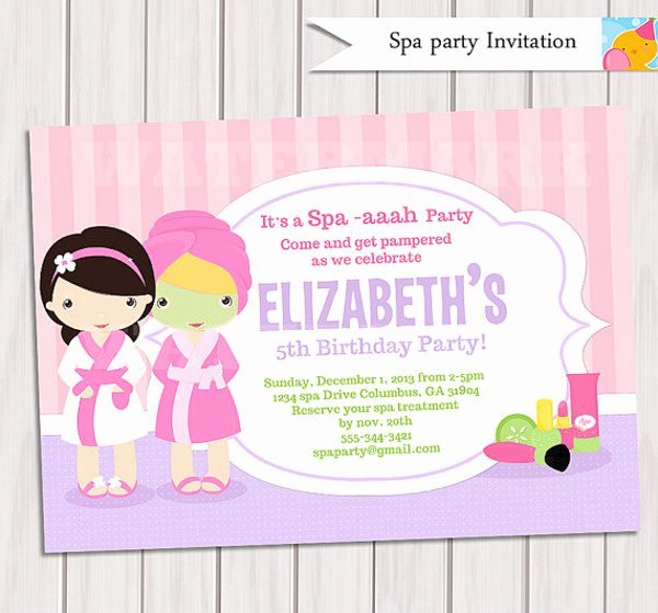 Free Spa Party Invitations New 22 Beautiful Spa Party Invitations & Designs Psd Ai