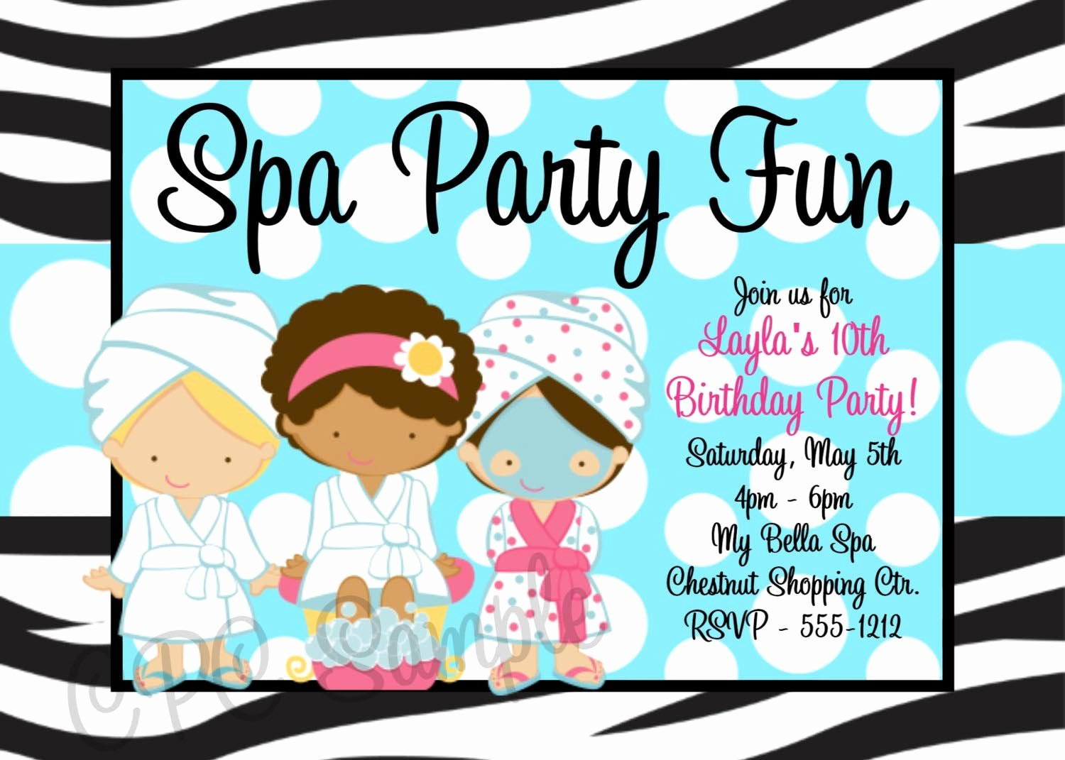Free Spa Party Invitations Unique Printable Spa Party Invitations