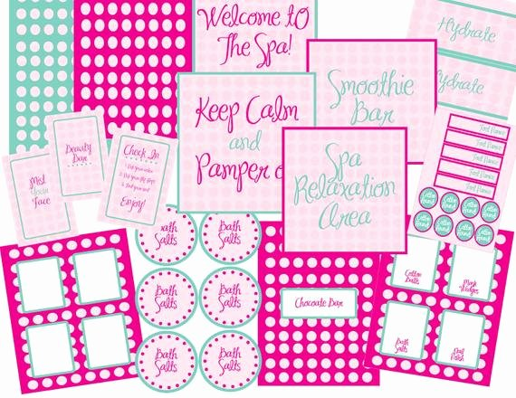 Free Spa Party Printables Inspirational Items Similar to On Sale Limited Time Spa Collection Pdf