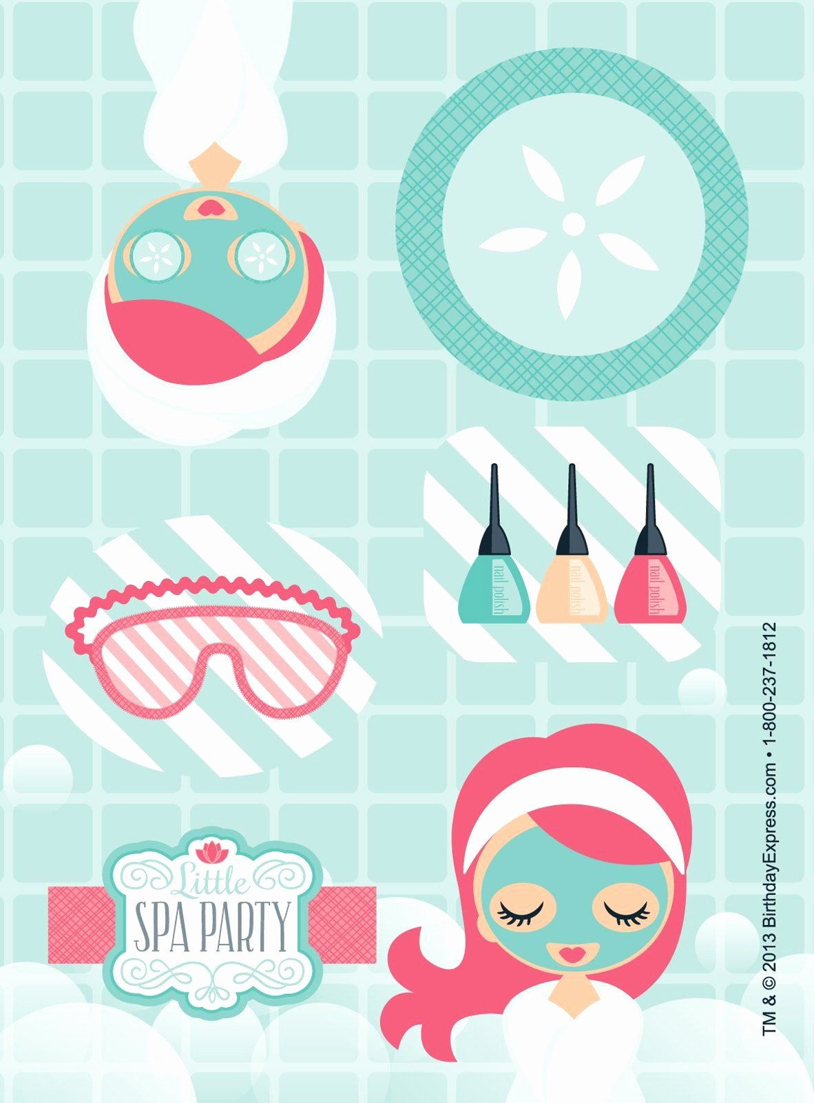 Free Spa Party Printables Lovely Little Spa Party Sticker Sheets