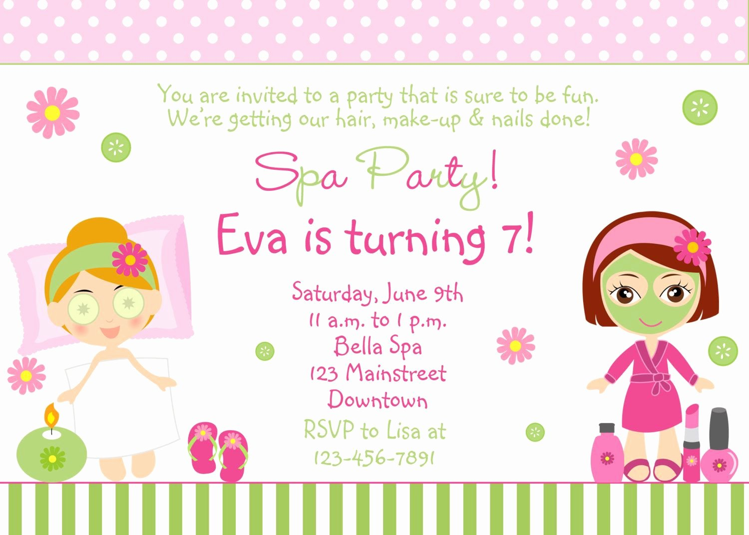 Free Spa Party Printables New Free Spa Party Invitations Printables Girls – Invitetown
