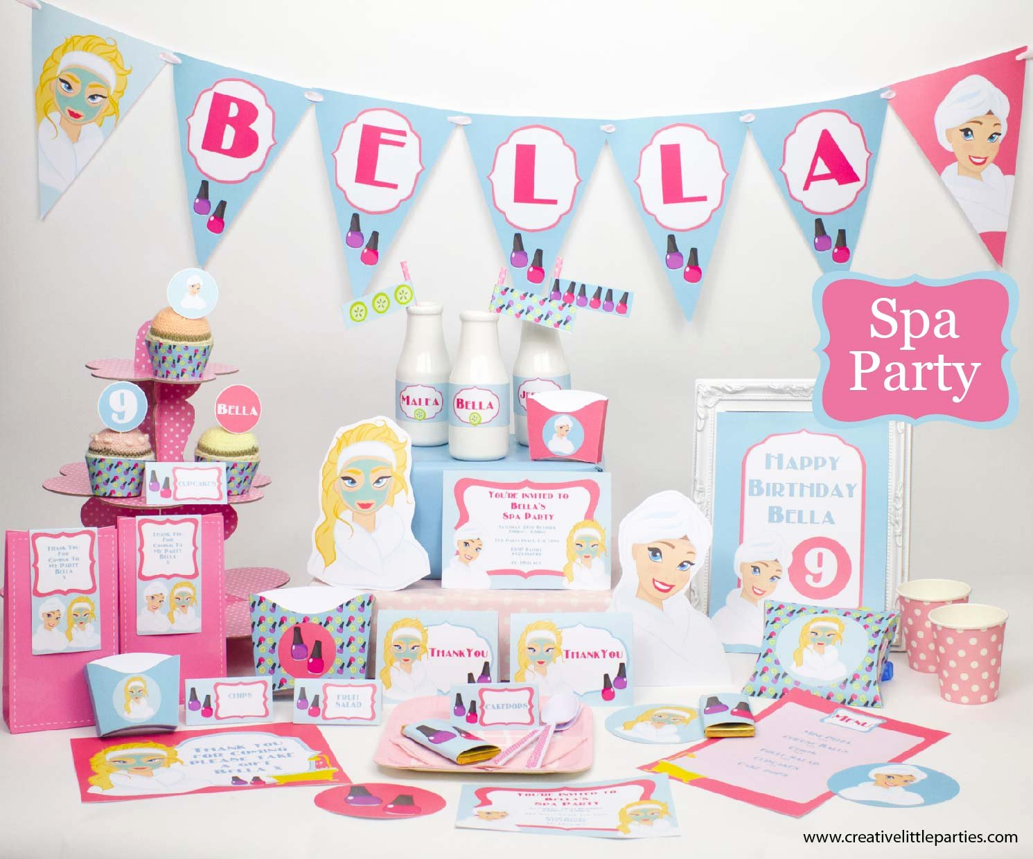 Free Spa Party Printables Unique Printable Spa Party Collection Creative Little Parties