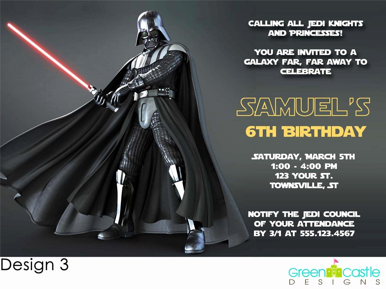 Free Star Wars Invitations Awesome 20 Star Wars Invitations Darth Vader Custom