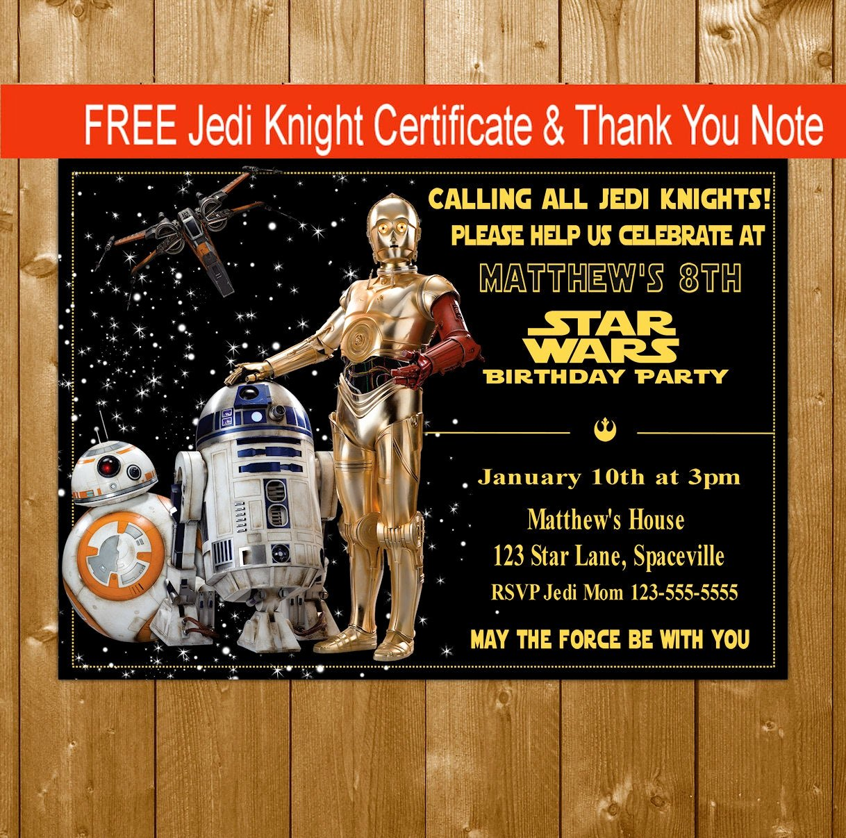 Free Star Wars Invitations Elegant Star Wars Invitations Birthday Party Star Wars Droids Bb8