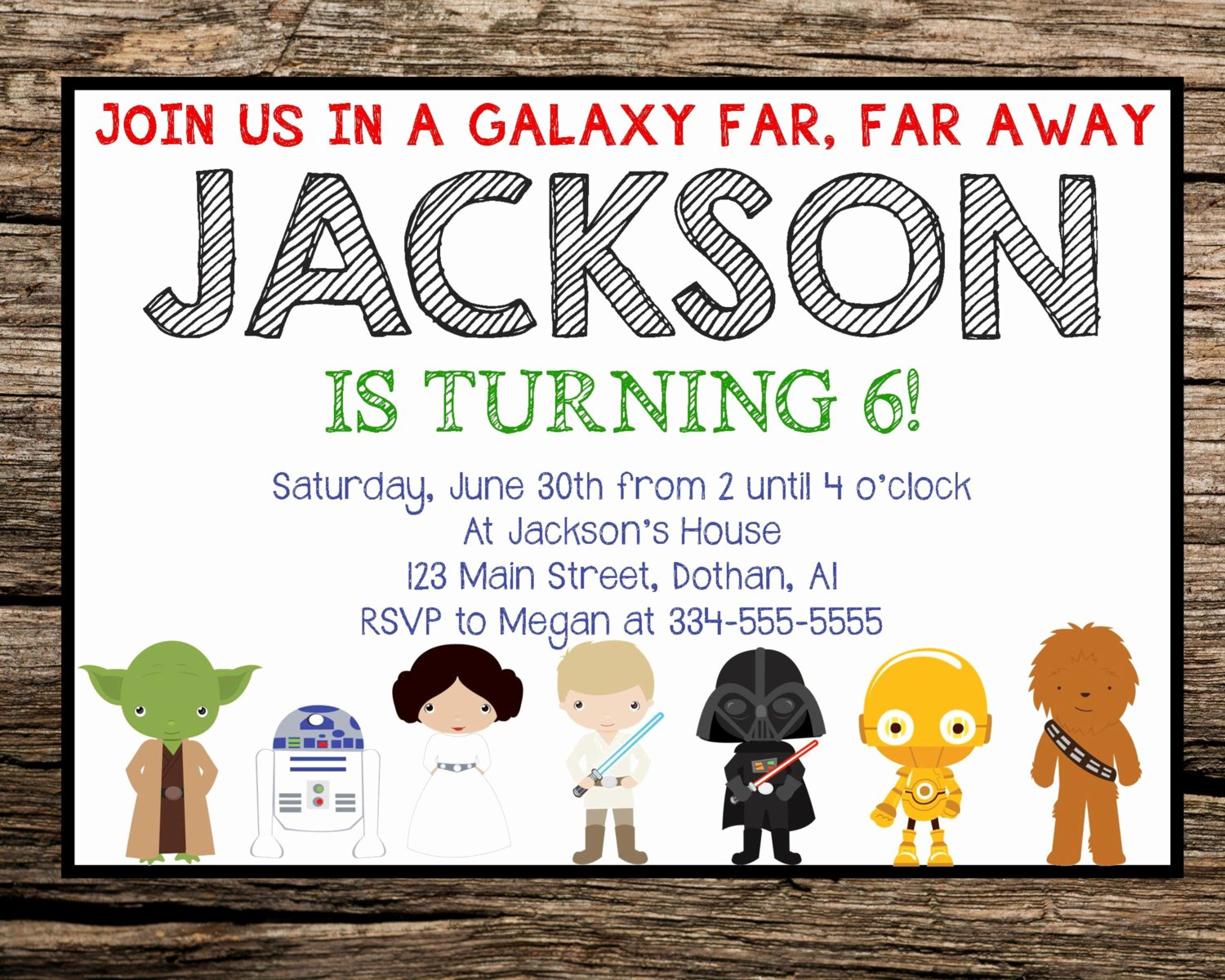 Free Star Wars Invitations Inspirational Star Wars Invitation Star Wars Birthday Invitation by