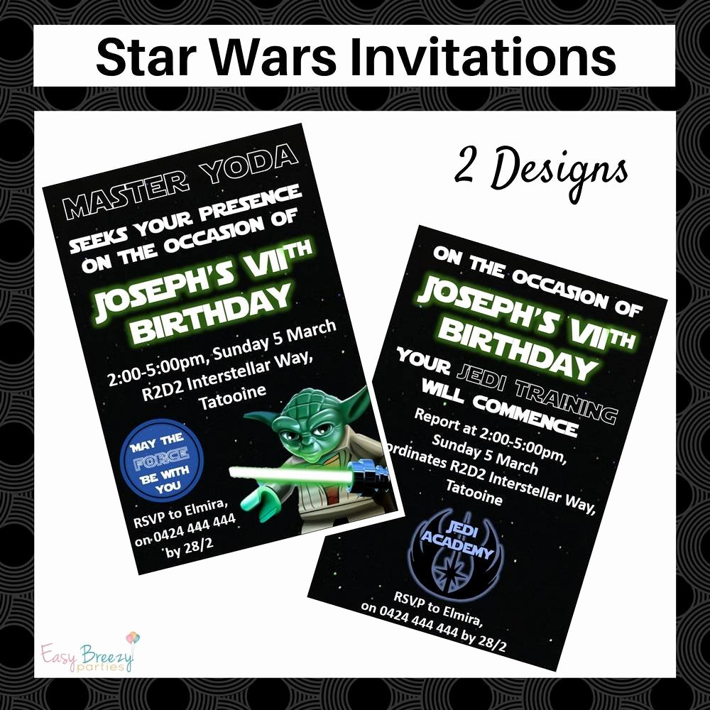 Free Star Wars Invitations Luxury Star Wars Invitation Personalised Printable Star Wars