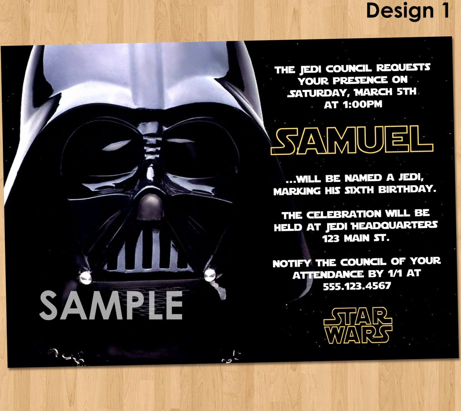 Free Star Wars Invitations New Star Wars Party Invitation Star Wars Party Printable Star