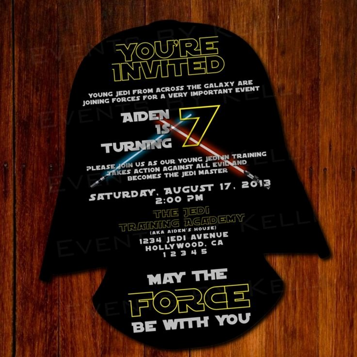 Free Star Wars Invitations Unique 11 Best Star Wars Party Invitation Images On Pinterest
