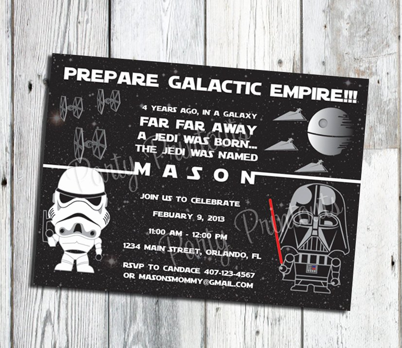 Free Star Wars Invitations Unique Star Wars Invitation Printable Star Wars Party Invitations