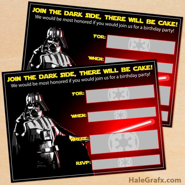 Free Star Wars Invitations Unique the Best Star Wars Party Ideas Happiness is Homemade