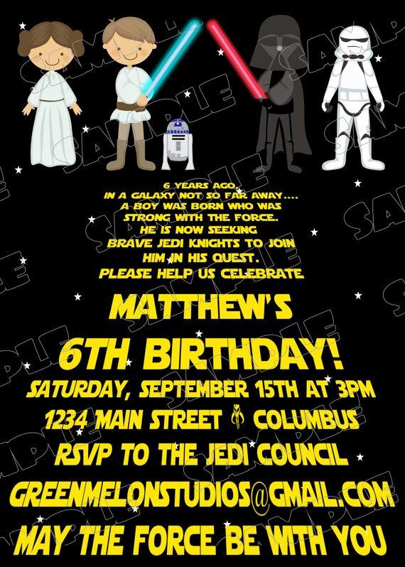 Free Star Wars Party Invitations Beautiful Free Printable Star Wars Birthday Invitations – Template